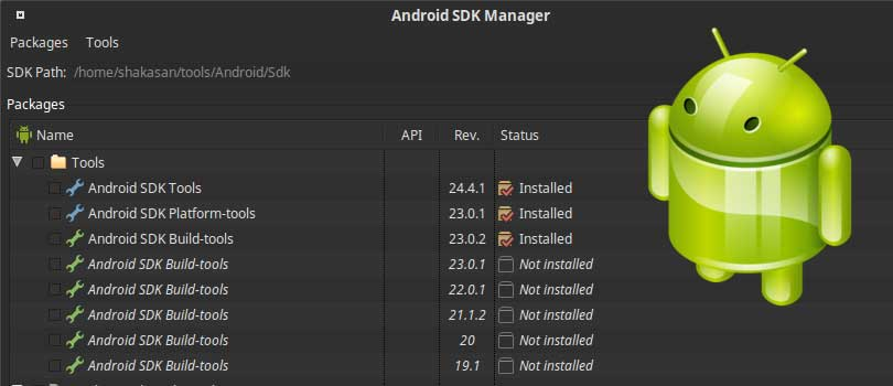Installer le SDK Android